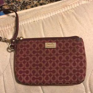 Coach coin purse/wristlet